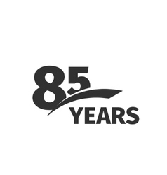 Isolated abstract black 85th anniversary logo on vector