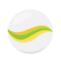 Isolated marble ball icon vector