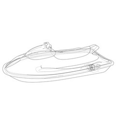Jet ski sketch vector