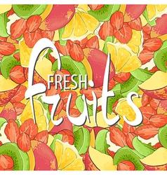 Juicy fruits vector