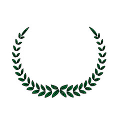laurel wreath winner sport decoration vector image