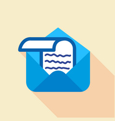 letter in envelope icon flat style vector image