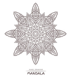 Mandala for coloring with ethnic decorative elemen vector