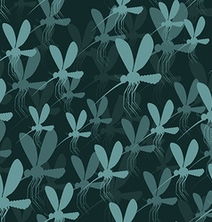 Mosquitoes seamless pattern 3D background of vector
