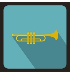 Music tube icon flat style vector image