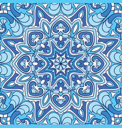 Oriental blue pattern vector