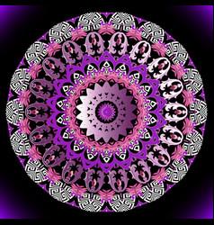ornamental colorful baroque mandala pattern vector image