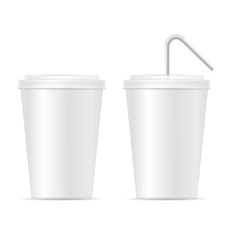 Paper Cup Template for Soda Set vector