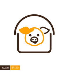 Pigsty icon vector