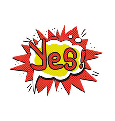 Pop art logo vector