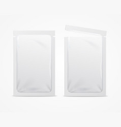 Realistic 3d detailed white blank foil or plastic vector