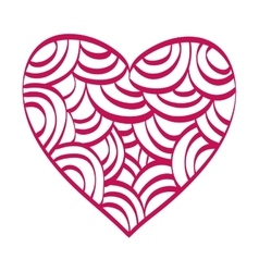 red heart love shape vector image