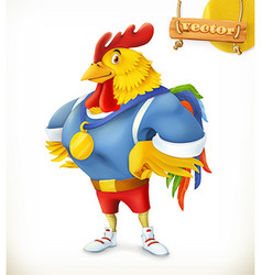 Rooster Animal 2017 Champion athlete 3d cartoon vector