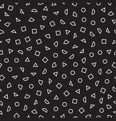 scattered geometric shapes inspired by memphis vector image