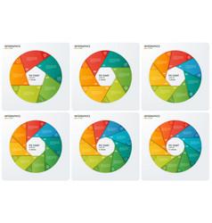 set circle chart infographic templates vector image