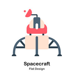 Spacecraft flat vector