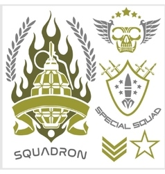 Special forces patch set vector