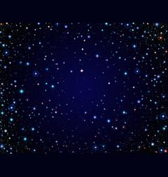 Starry clear sky vector