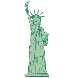 Statue of liberty on white background vector