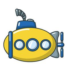 submarine funny icon cartoon style vector image