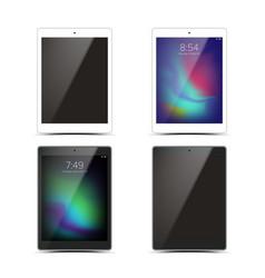 tablet mockup set design black and white vector image vector image