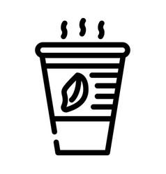 Tea smell line icon line vector