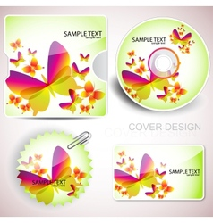 Templates for cd and cards vector