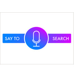 Voice search recognition flat icon vector