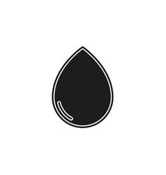 water drop nature rain symbol isolated vector image
