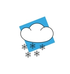 Weather icon clipart snow flakes vector