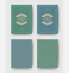 Wedding invitation save the date cards vintage vector