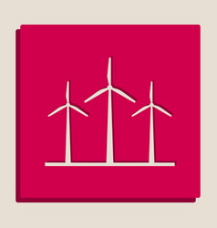wind turbines sign grayscale version of vector image