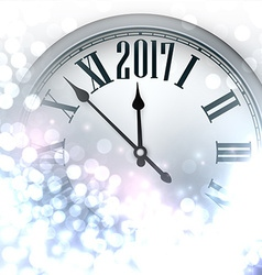 2017 new year luminous background vector