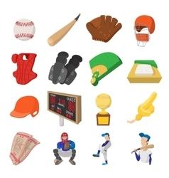 American football cartoon icons vector image vector image