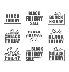 black friday labels vector image vector image