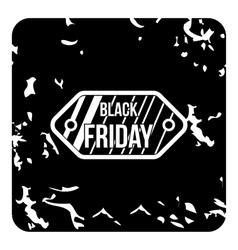 Black friday sale icon grunge style vector image