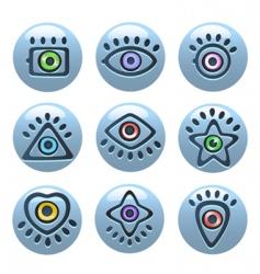 eye icons vector image vector image