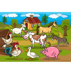 next farm animals m vector image vector image