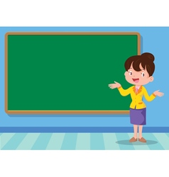 teacher and backboard vector image vector image