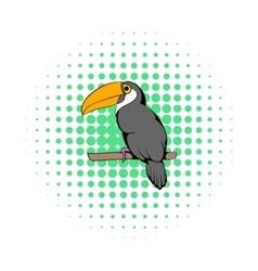 Toucan icon comics style vector image vector image