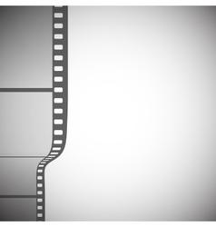 Transparent film strip on gray background vector