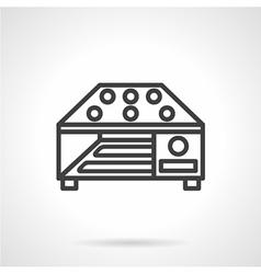 Grain dryer simple line icon vector image