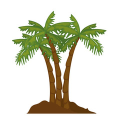 isolated beach palms vector image