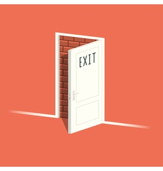 There is no exit vector image vector image