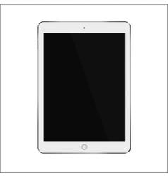 White realistic smart tablet with blank black vector image vector image