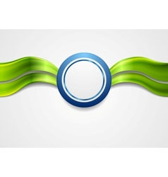 Corporate bright abstract background Waves and vector image