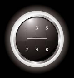 gear shift vector image