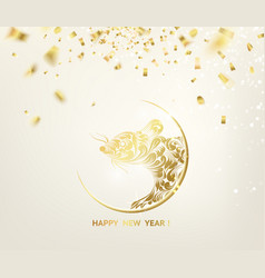 2020 new year background astrological card with vector image