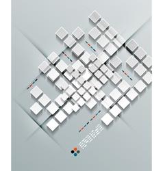 3d paper squares design vector