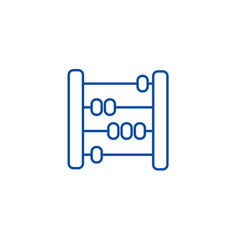 abacusscorescounter line icon concept abacus vector image